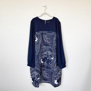 [Eloquii] NWT Floral Print Long Sleeve Shift Dress